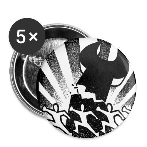 Button Nie wieder Arbeit 3 - Buttons klein 25 mm (5er Pack)