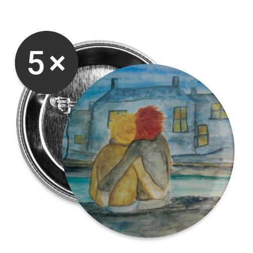 lilicapu - Lot de 5 petits badges (25 mm)