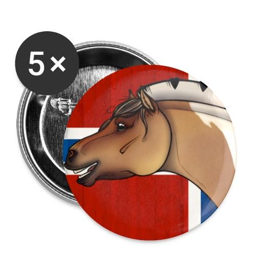 Rudi Pon Norway. - Liten pin 25 mm (5-er pakke)