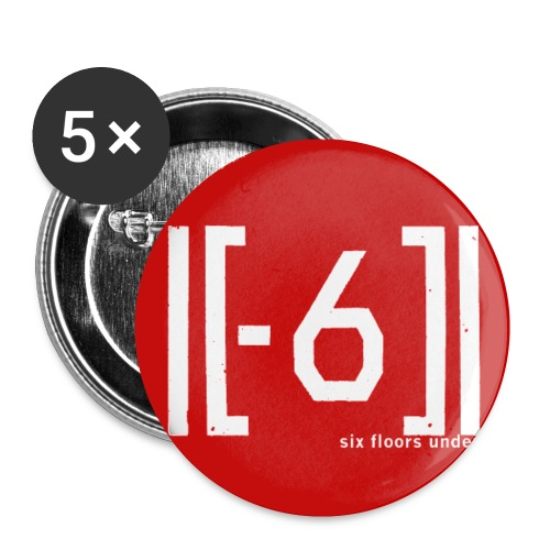 logo6FU 201510 red badge png - Buttons small 1''/25 mm (5-pack)
