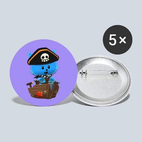 HCP custo 1 - Lot de 5 petits badges (25 mm)