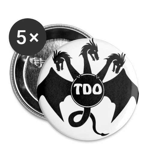 TDO redesign high res 5 transparent png - Buttons small 1''/25 mm (5-pack)