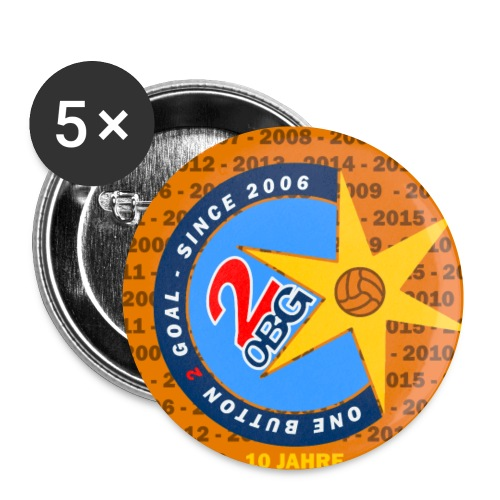 ob2g 10jahre - Buttons klein 25 mm (5er Pack)