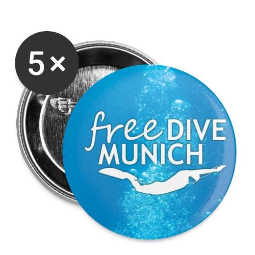 FreeDive Munich underwater - Buttons klein 25 mm (5er Pack)