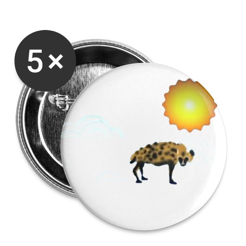 Slightly Looming Nonstandard Refraction Hyena - Buttons small 1''/25 mm (5-pack)