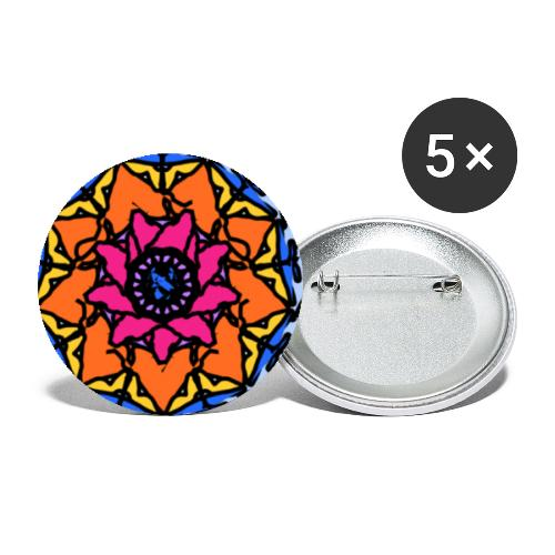 Psychedelic kaleidoscope #1 - Buttons small 1''/25 mm (5-pack)