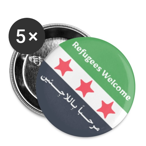 Refugees Welcome - Buttons small 1''/25 mm (5-pack)