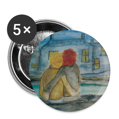 lilicapu - Lot de 5 petits badges (25 mm)