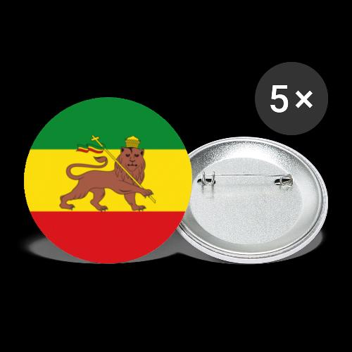 LION FLAG - Buttons small 1''/25 mm (5-pack)