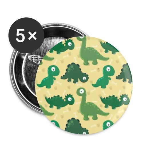 Dinos: jurassic pattern - Confezione da 5 spille piccole (25 mm)