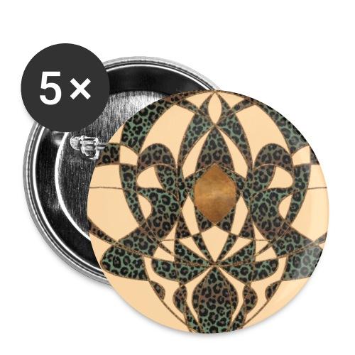 Jugendstil Art Nouveau Vintage Gift Beige - Buttons small 1''/25 mm (5-pack)