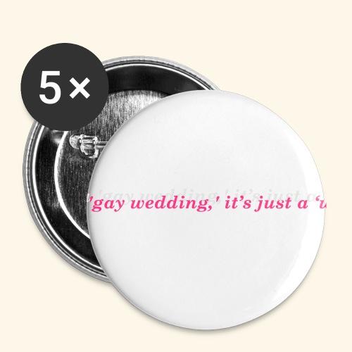 Gay wedding - Przypinka mała 25 mm (pakiet 5 szt.)