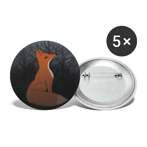 Räv - Små knappar 25 mm (5-pack)