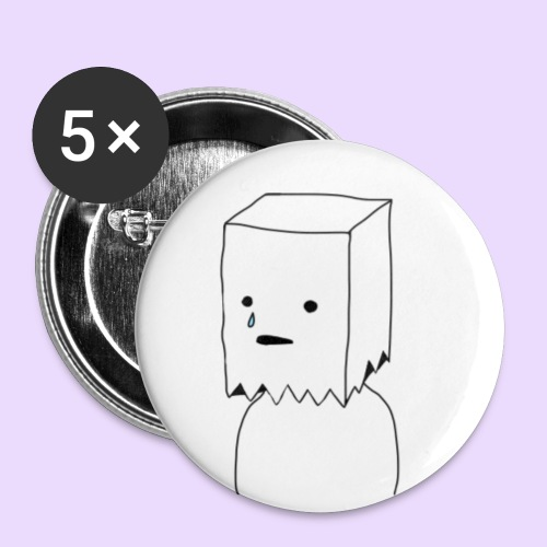 Paper Bag Guy - Buttons small 25 mm