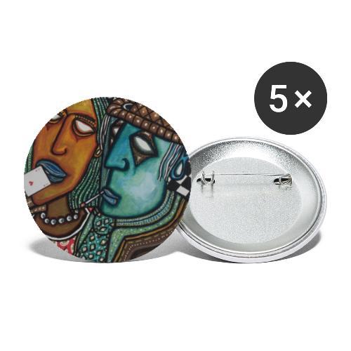 As de coeurs - Buttons klein 25 mm (5er Pack)