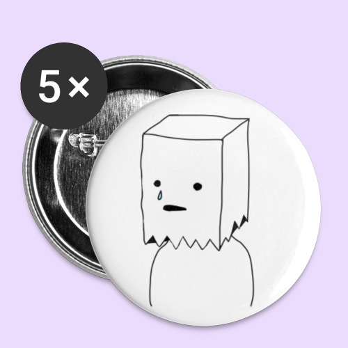 Paper Bag Guy - Buttons small 1''/25 mm (5-pack)