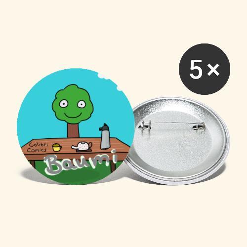 Baumi Tee Hintergrund - Buttons klein 25 mm (5er Pack)