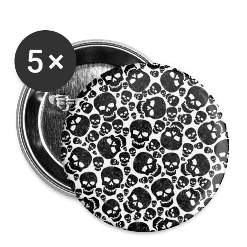 Schädel / Skulls - Buttons klein 25 mm