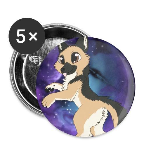 Deutscher Schäferhund - Buttons klein 25 mm (5er Pack)
