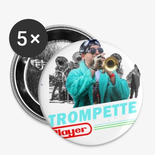 Trompette playendo - Lot de 5 petits badges (25 mm)