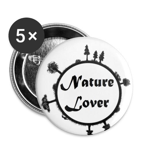 Naturliebhaber - Buttons klein 25 mm (5er Pack)