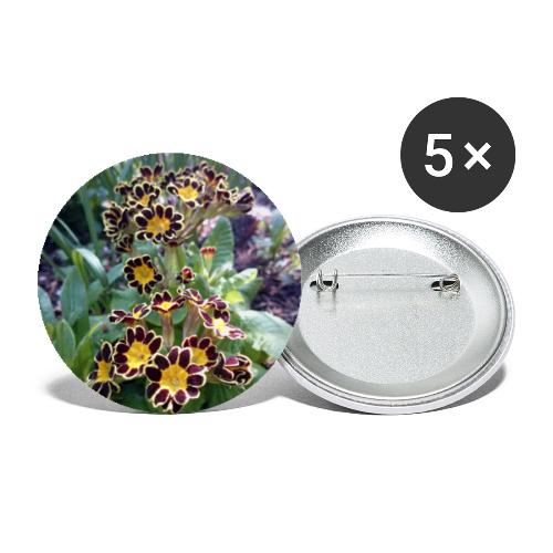 Primel - Buttons klein 25 mm (5er Pack)