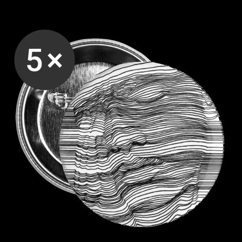 Jky - Buttons klein 25 mm (5er Pack)