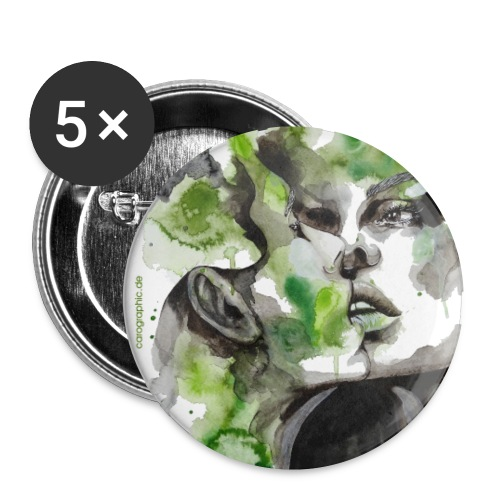 Kiss by carographic - Buttons klein 25 mm (5er Pack)