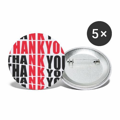 Motyw z napisem Thank You - Przypinka mała 25 mm (pakiet 5 szt.)