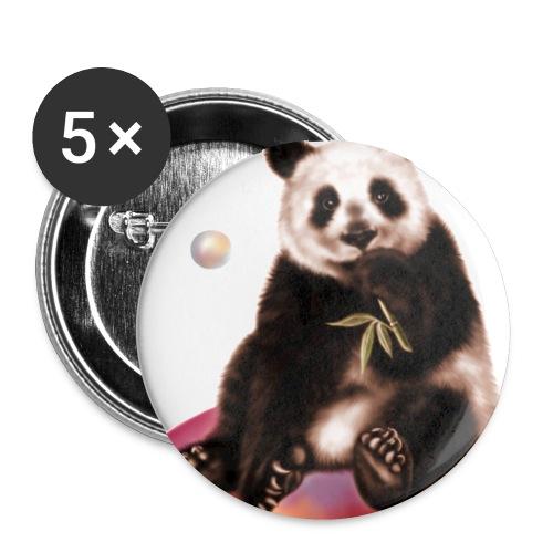 Panda World - Confezione da 5 spille piccole (25 mm)