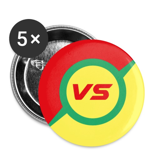 vs - Lot de 5 petits badges (25 mm)