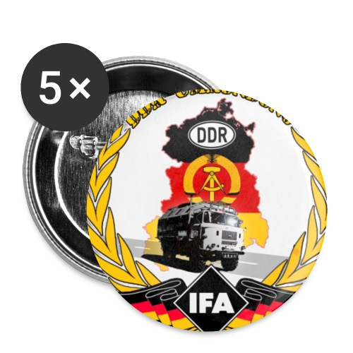 DDR Umrundung - Buttons klein 25 mm (5er Pack)