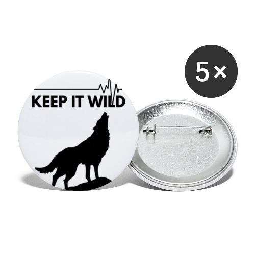 Keep it wild - Buttons klein 25 mm (5er Pack)