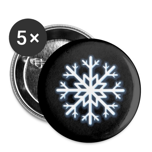 white snow2 - Buttons klein 25 mm (5er Pack)
