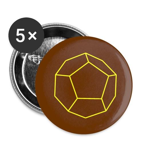 W12 Rollenspiel-Würfel - Buttons klein 25 mm (5er Pack)