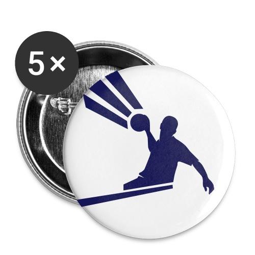 handballer - Buttons klein 25 mm (5er Pack)