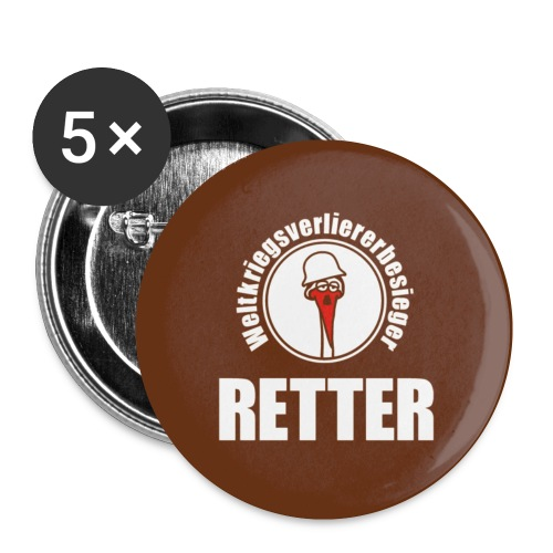 retter orig - Buttons klein 25 mm (5er Pack)