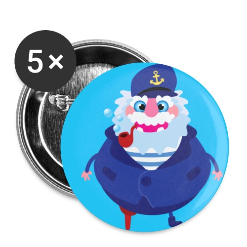 facecapitaine - Lot de 5 petits badges (25 mm)