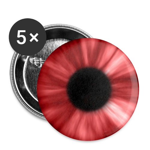 eye red - Buttons klein 25 mm (5-pack)