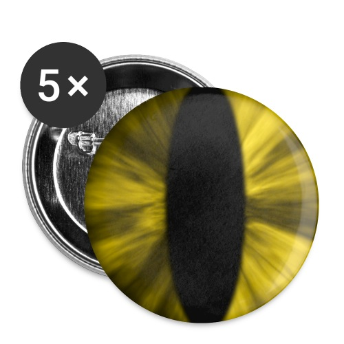 eye tiger - Buttons klein 25 mm (5-pack)
