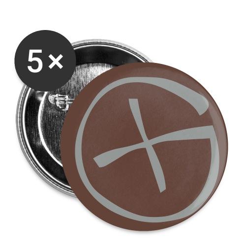 Geocaching - Rintamerkit pienet 25 mm (5kpl pakkauksessa)