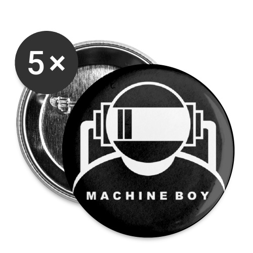 Machine Boy Black - Buttons small 1''/25 mm (5-pack)