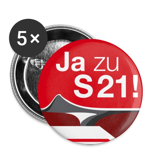 ja zu s21 gross - Buttons klein 25 mm (5er Pack)
