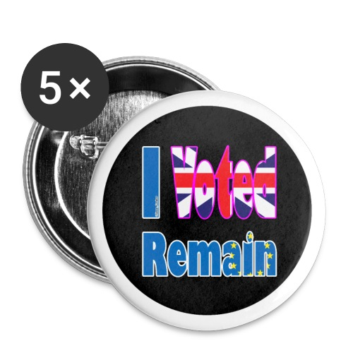 I Voted Remain badge EU Brexit referendum - Buttons small 1''/25 mm (5-pack)