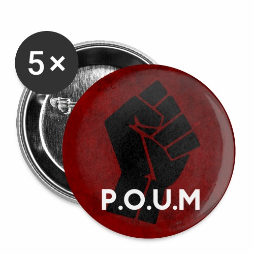 POUM - Lot de 5 petits badges (25 mm)