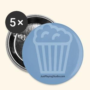 Badge bleu JustPlayingStudio.com - Badge petit 25 mm