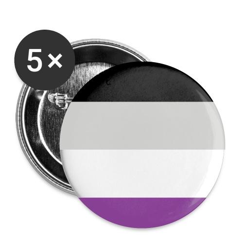 Aseksuaali - Rintamerkit pienet 25 mm (5kpl pakkauksessa)