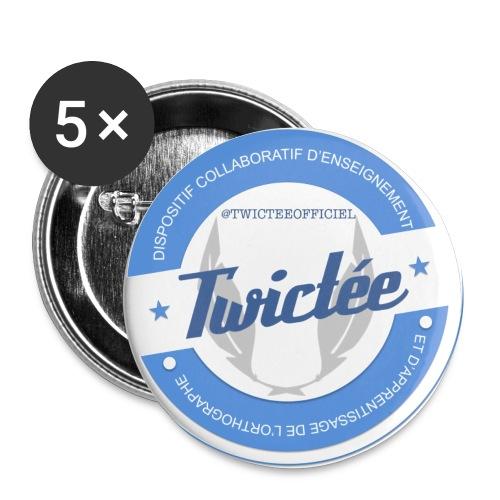 logo twictee - Lot de 5 petits badges (25 mm)