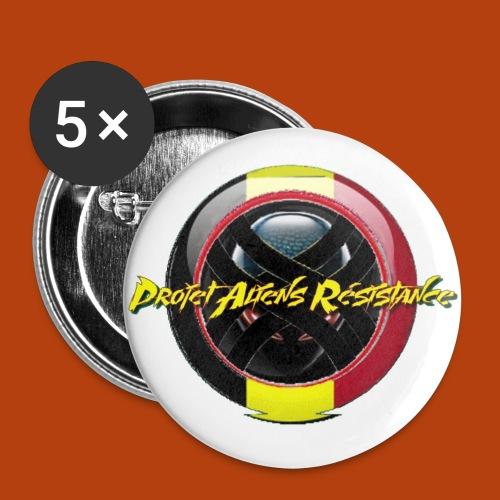 Logo Projet Aliens Résistance - Lot de 5 petits badges (25 mm)