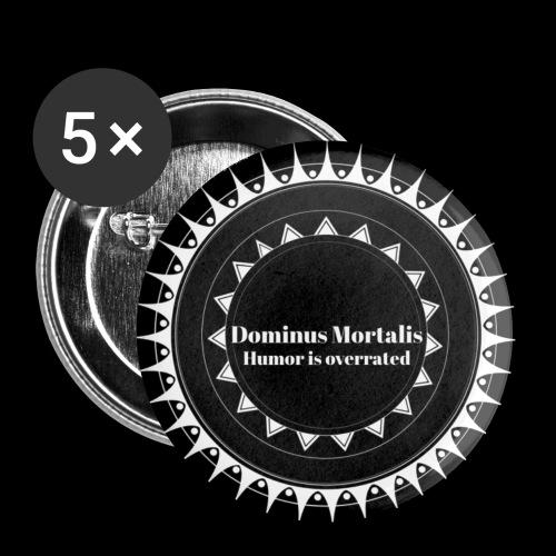 Badge Titre - Lot de 5 petits badges (25 mm)